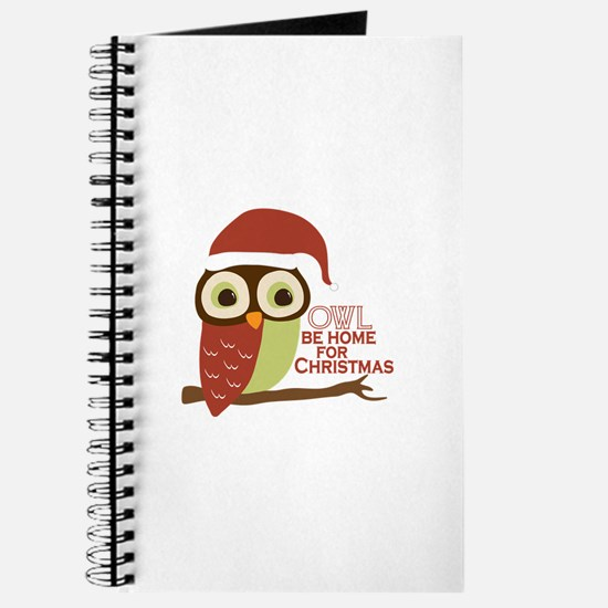 Owl Be Home For Christmas Journal
