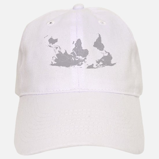 Blank-map-world-south-up.png Baseball Baseball Cap