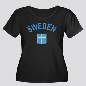 Sweden Women's Plus Size Scoop Neck Dark T-Shirt