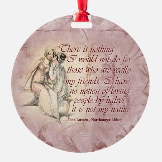 Jane Austen Quote Ornament