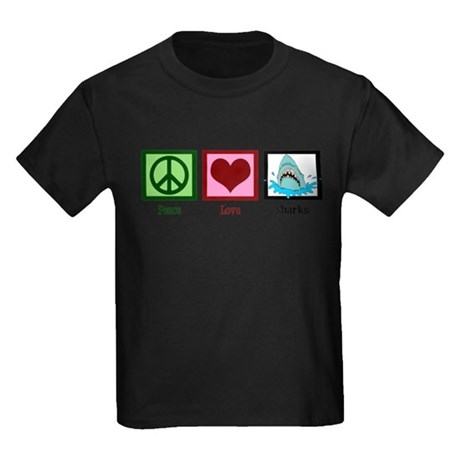 Peace Love Sharks T-Shirt