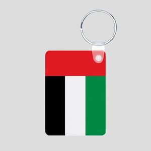 UAE Flag Aluminum Photo Keychain