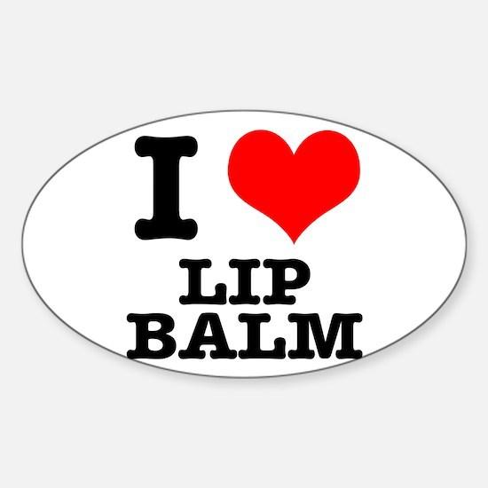 I Heart (Love) Lip Balm Oval Decal