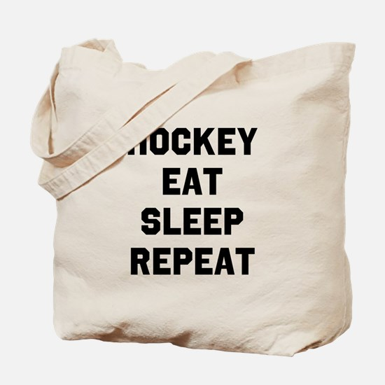 Hockey Eat Sleep Repeat Tote Bag