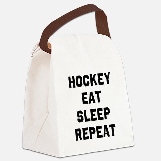 Hockey Eat Sleep Repeat Canvas Lunch Bag