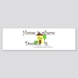 Home Is Where The Doodle Is Bumper Sticker