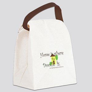 Home Is Where The Doodle Is Canvas Lunch Bag