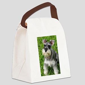 Schnauzer Canvas Lunch Bag