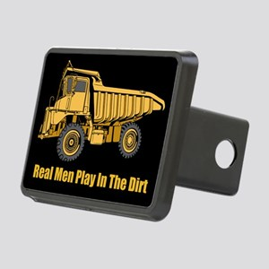 Real Men Play In The Dirt Rectangular Hitch Cover