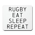 Rugby Eat Sleep Repeat Mousepad