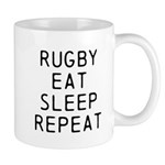 Rugby Eat Sleep Repeat Mugs