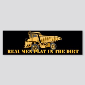 Real Men Play In The Dirt Sticker (Bumper)