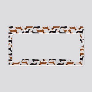 Dachshund Grey License Plate Holder