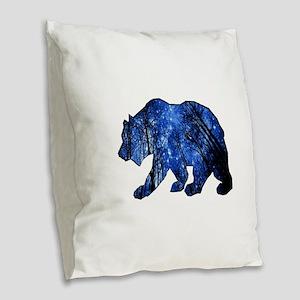 BEAR NIGHTS Burlap Throw Pillow