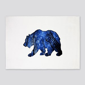 BEAR NIGHTS 5'x7'Area Rug