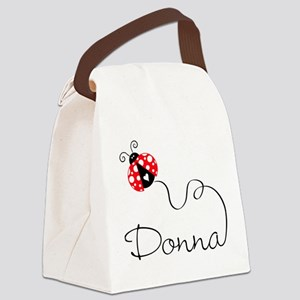 Ladybug Donna Canvas Lunch Bag