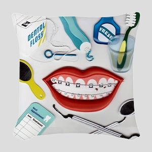 Dentist Woven Throw Pillow