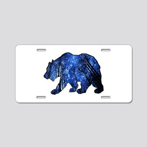 BEAR NIGHTS Aluminum License Plate