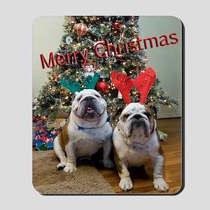 English Bulldog Christmas Mousepad