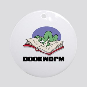 Bookworm Book Lovers Ornament (Round)