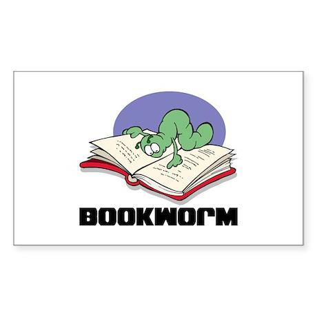 Bookworm Book Lovers Rectangle Sticker
