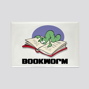 Bookworm Book Lovers Rectangle Magnet
