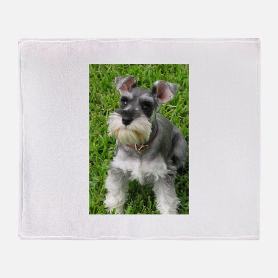 Schnauzer Throw Blanket