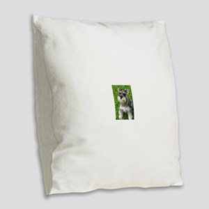 Schnauzer Burlap Throw Pillow