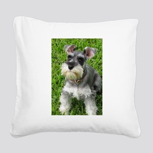 Schnauzer Square Canvas Pillow