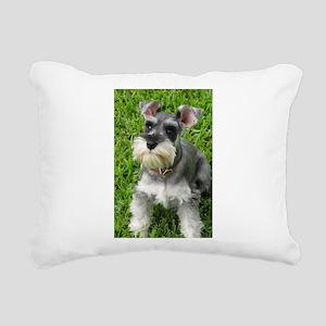 Schnauzer Rectangular Canvas Pillow