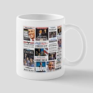 Pro Obama Victory Collage Mugs