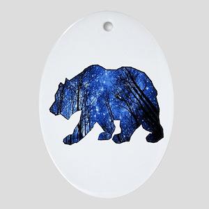 BEAR NIGHTS Oval Ornament