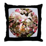 What spring does to cherry trees Throw Pillow