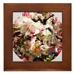 What spring does to cherry trees Framed Tile