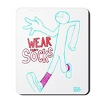 Wear socks Mousepad