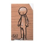Standing guy Sticker (Rectangle)