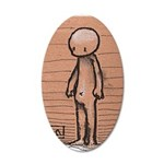 Standing guy 35x21 Oval Wall Decal