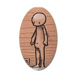 Standing guy 20x12 Oval Wall Decal