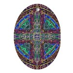 Hyperdoodle 1 Oval Ornament
