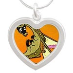 Dragon Lick Silver Heart Necklace