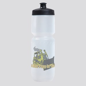 Real Men Play In The Dirt Sports Bottle