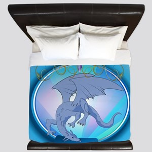 The Blue Dragon King Duvet