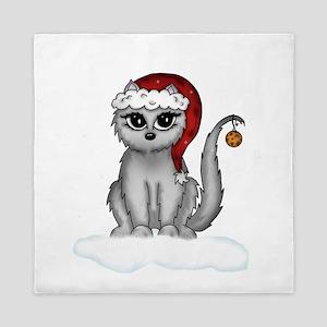 christmas cat Queen Duvet