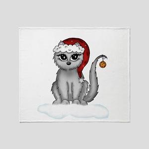 christmas cat Throw Blanket