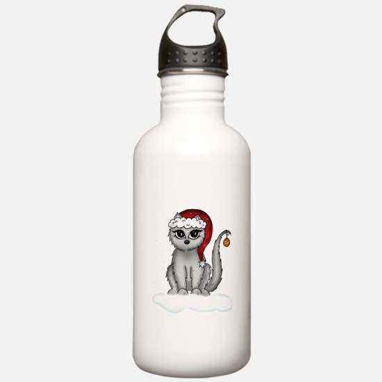 christmas cat Water Bottle