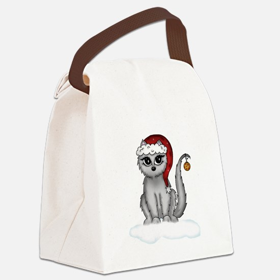 christmas cat Canvas Lunch Bag