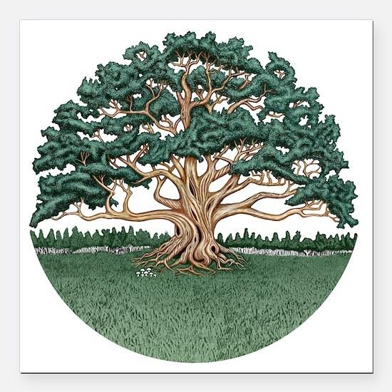 "The Wisdom Tree Square Car Magnet 3"" x 3"""