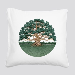 The Wisdom Tree Square Canvas Pillow