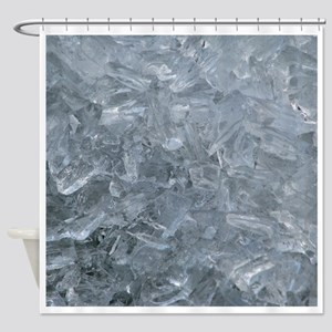 Raw Ice Shower Curtain