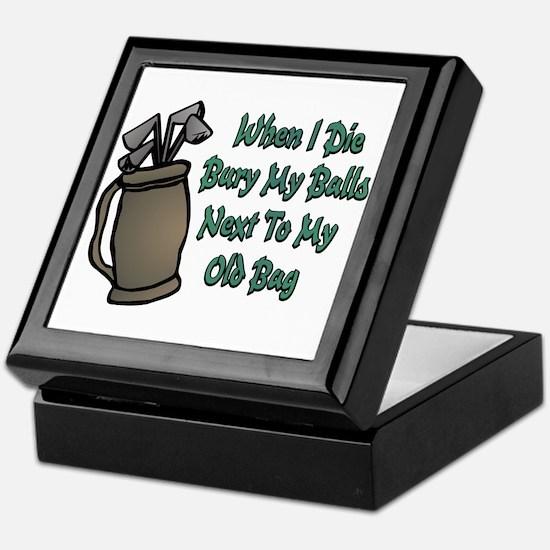When I Die Keepsake Box